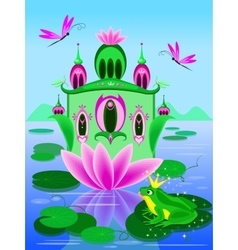 House of frog princess vector