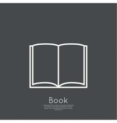 Icon an open book vector