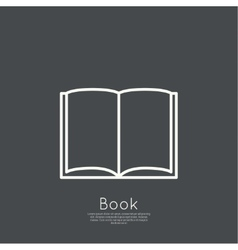 Icon of an open book vector