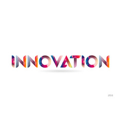 Innovation colored rainbow word text suitable for vector