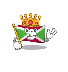 King indonesian flag burundi on cartoon character vector