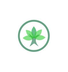 Leaf circle abstract logo vector