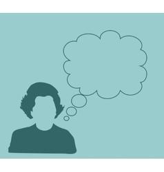 Margaret Thatcher Simple Style Silhouette Portrait vector image