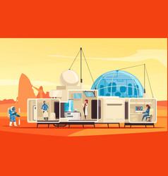 Mars colonization station composition vector