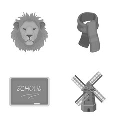 menagerie education and other monochrome icon in vector image