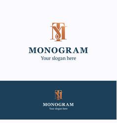 monogram logo vector image