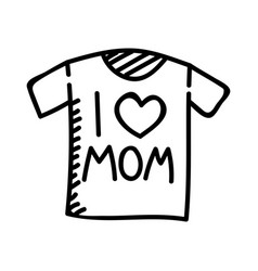 Mothers day t-shirt hand drawn icon design sign vector