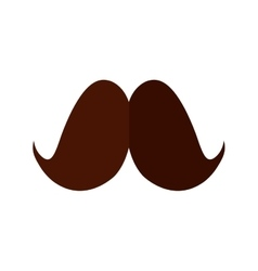 mustache father day card shadow vector image
