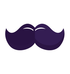 mustache hipster symbol vector image