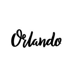 orlando city florida modern brush lettering vector image