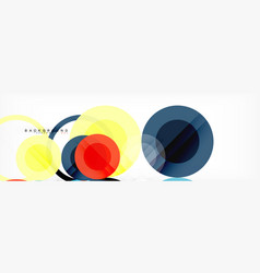 Overlapping circles design background vector