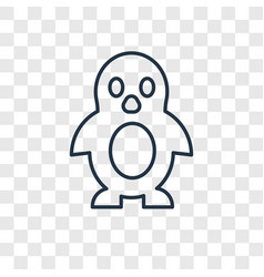 penguin toy concept linear icon isolated on vector image