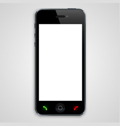 Phone with a black screen vector