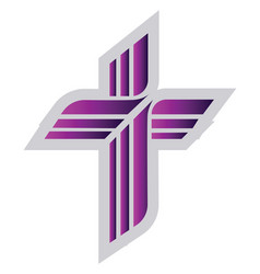 purple lutheran sign on a white background vector image