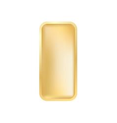 realistic gold ingot vector image