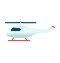 rescue or tourist propeller helicopter icon flat vector image