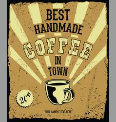 retro vintage coffee background 2 vector image