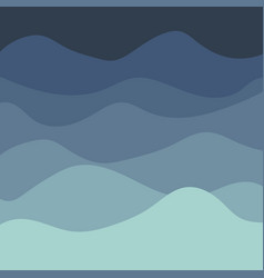 Sea waves background painting blue sea vector
