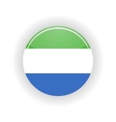 Sierra Leone icon circle vector image