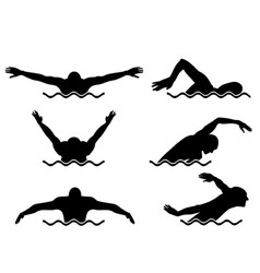 Six swimmers set vector