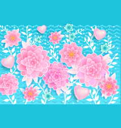 spring background pink flowers vector image