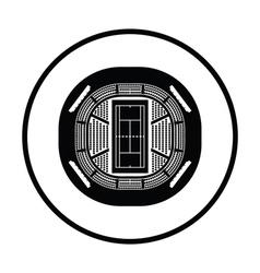Tennis stadium aerial view icon vector image