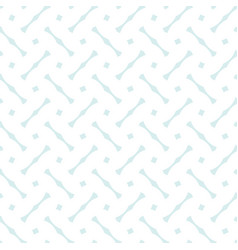 Tile pattern with blue print on white background vector