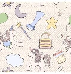 Unicorn birthday card vector