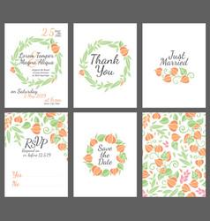 Wedding design invitations vector