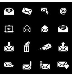 white email icon set vector image