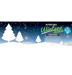 Winter Sale Up To 50 Percent Template vector