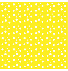 yellow background white drops balls circles vector image