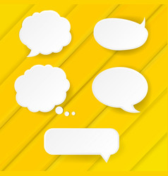 yellow banner with speech bubble vector image