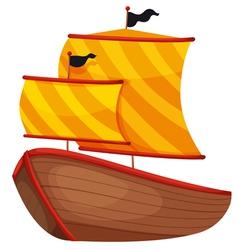 Ancient Ship vector image vector image