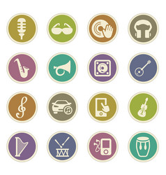 disco or club icons set vector image