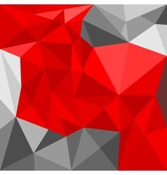 Grey and red triangle seamless background vector image