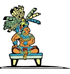 Mayan King vector image