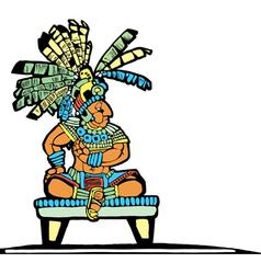 Mayan King vector image vector image