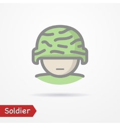 Soldier face icon vector image vector image