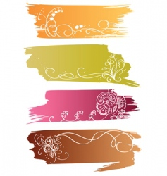 floral banners with flower and heart vector image vector image
