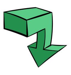 green arrow icon icon cartoon vector image
