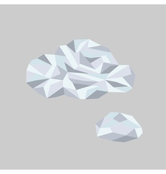 Polygonal Bubble Icon with geometrical figures vector image vector image