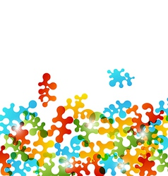 Set colorful figures stylized puzzle vector image vector image