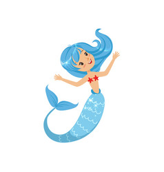 beautiful little mermaid from underwater world vector image