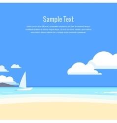 Beautiful seascape vector image vector image