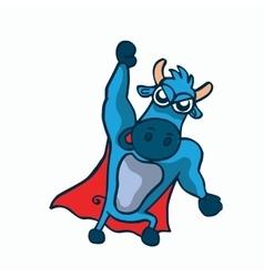 cute super buffalo cartoon design vector image