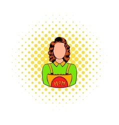 Mom icon in comics style vector image vector image