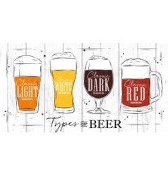 Poster types beer coal vector image vector image