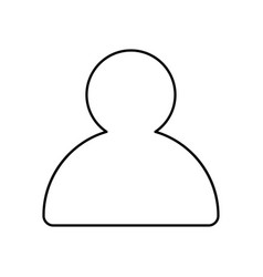 profile outline icon isolated lined vector image