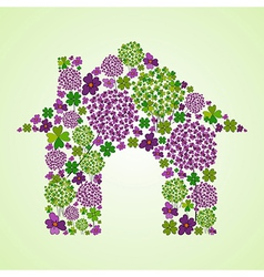 Spring house icon vector image vector image